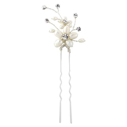 Nina Luxury Pearl Bridal Hair Pin, Wedding Hair Accessory